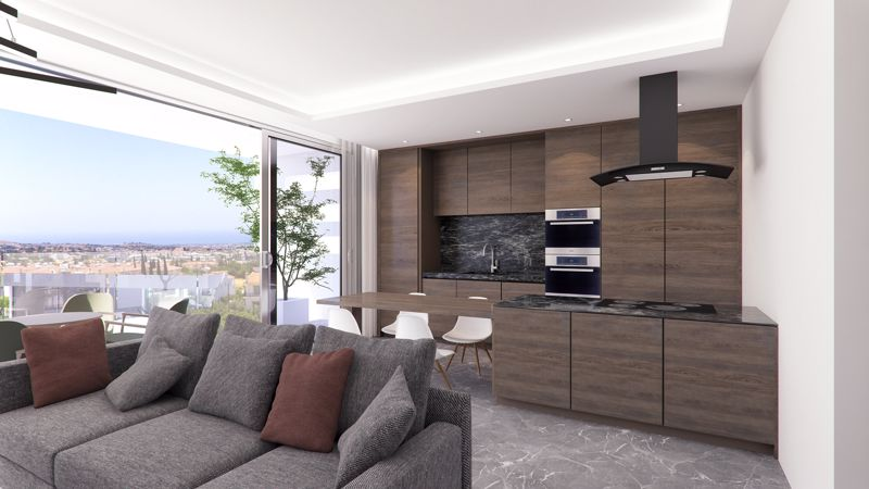 Open Plan Living and Kitchen Area (Artist Impressi
