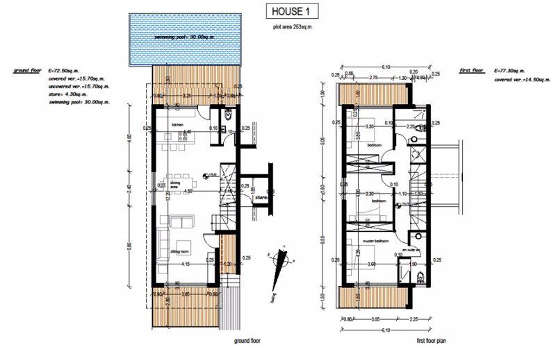 Floor Plans - Villa 1 (Artist Impression)