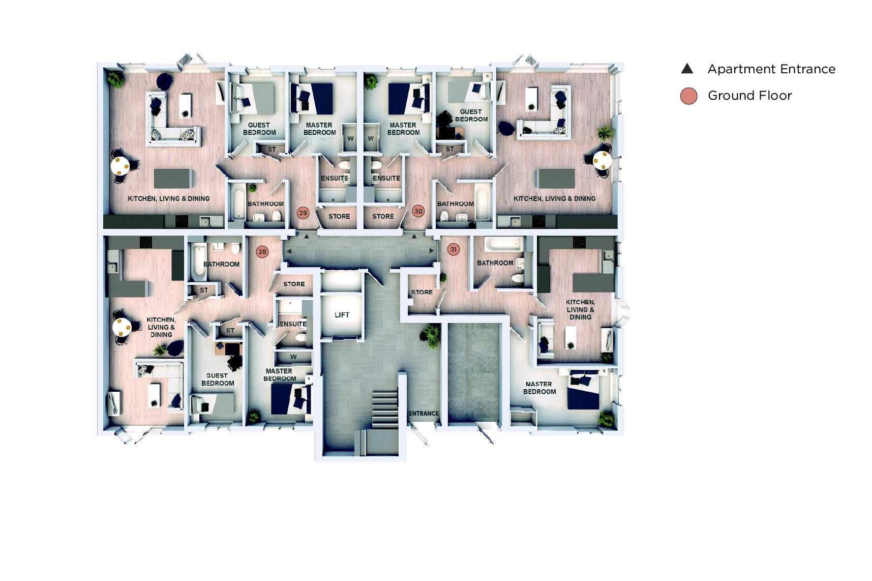 Ground Floor Apartments