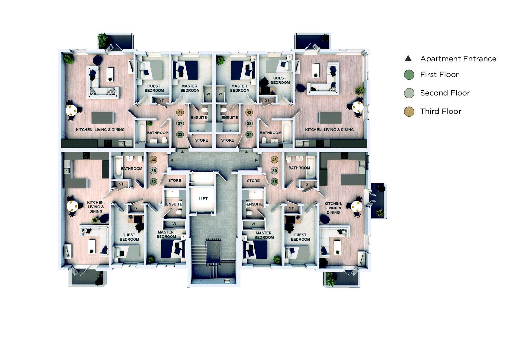 Upper Floor Apartments