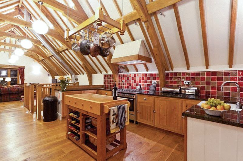 Oak Barn Kitchen area