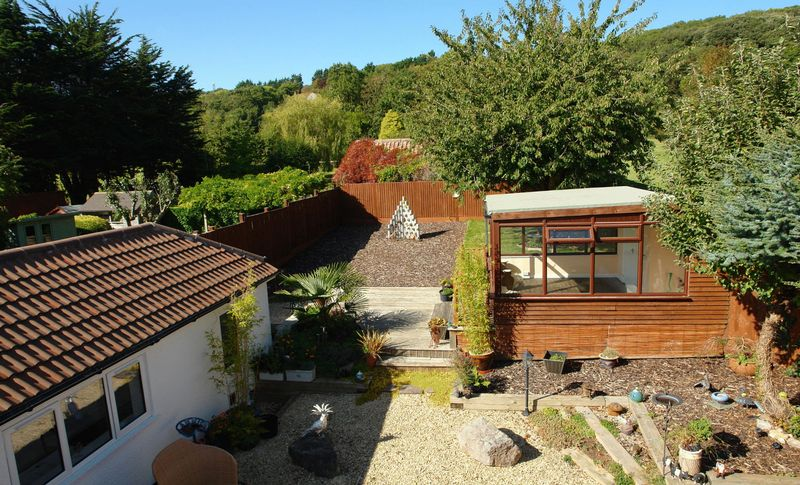 Rear garden and studio - cabin