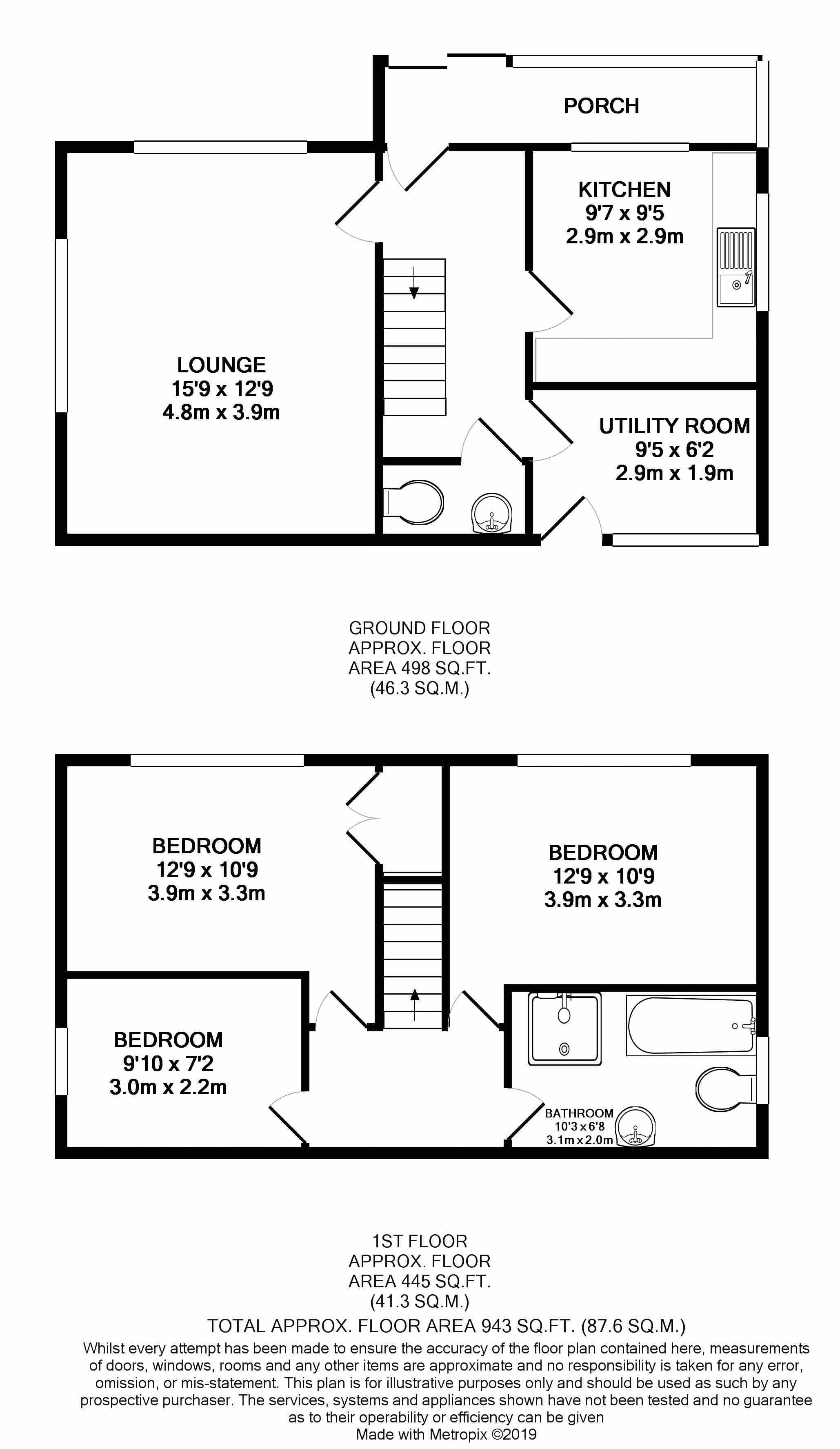 54 Nant Y Gro Floorplan