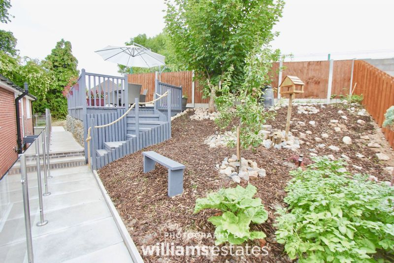 vegetable plot and patio