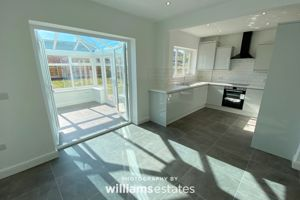 Open plan Kitchen/Dining and Conservatory