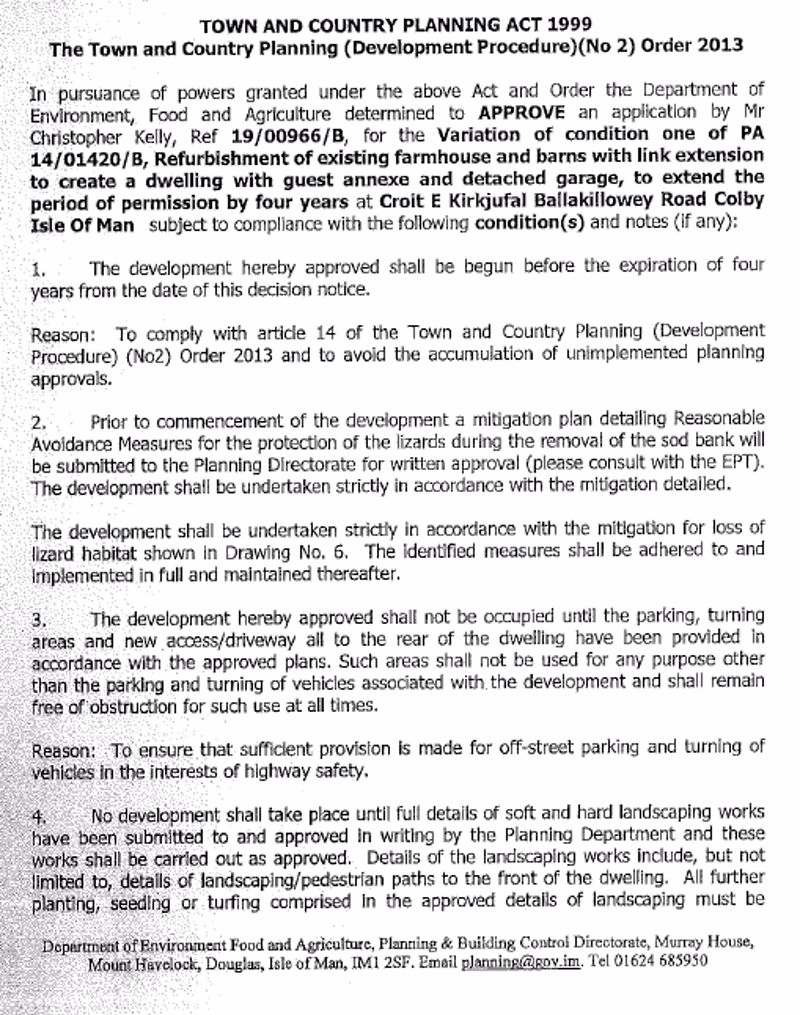 NEW PLANNING APPLICATION PG 1