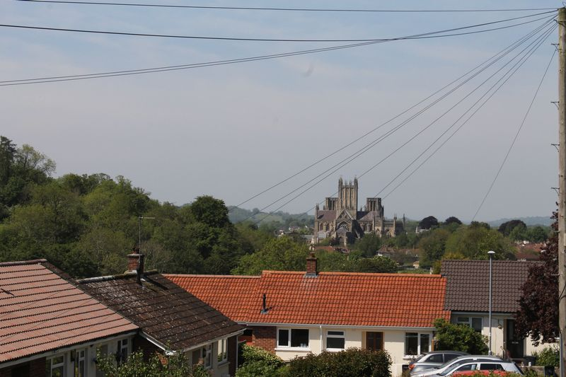 View to Wells Cathedral to the front
