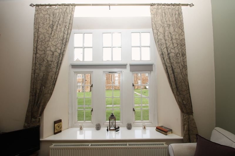 Window with views over the communal grounds