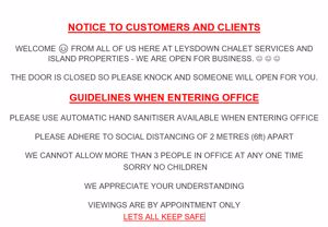 NOTICE TO CUSTOMERS AND  ALL OUR CLIENTS