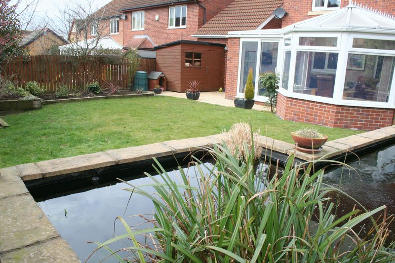 Rear Garden with Pond