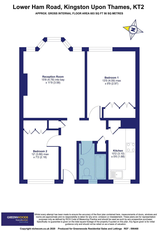 2D Floorplan Canbury Court