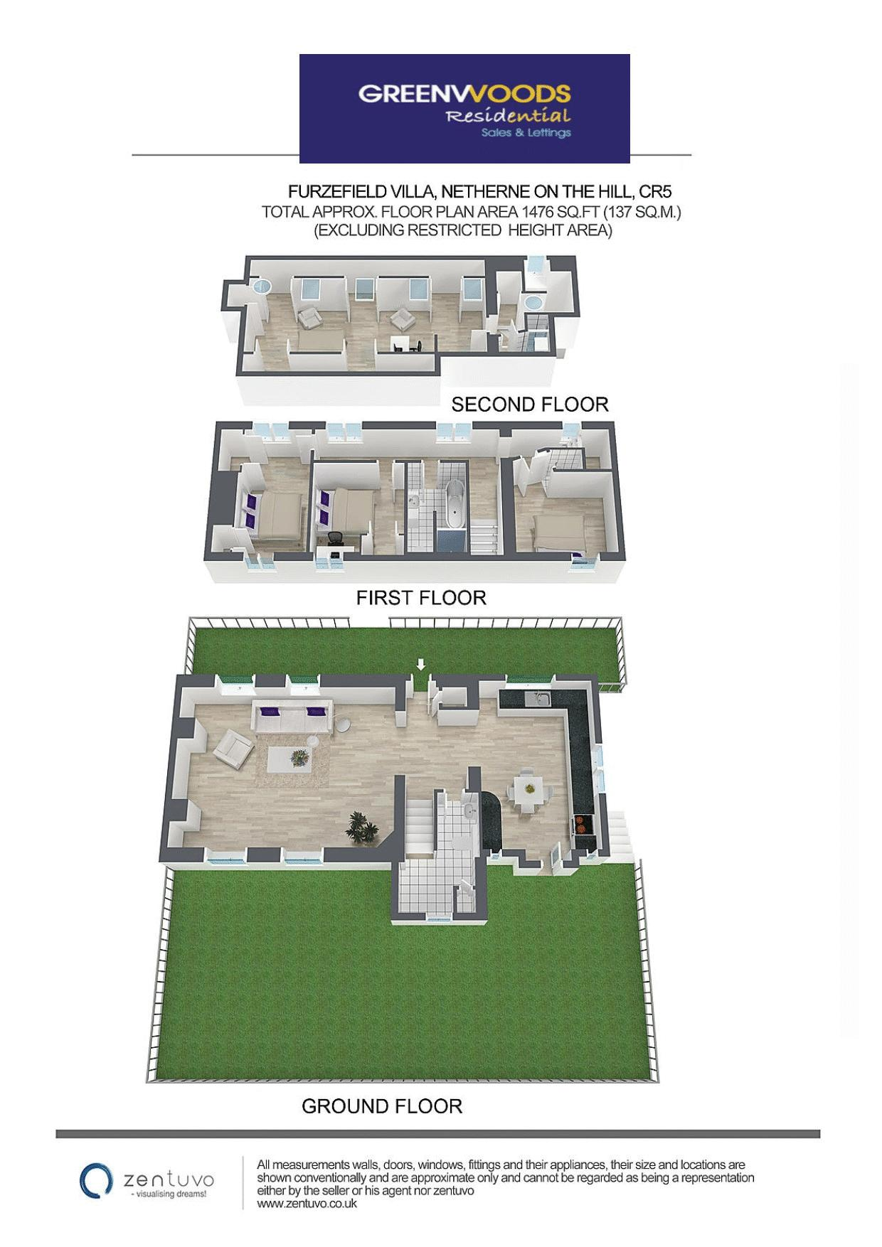 3d Floor plan Greenwoods Res
