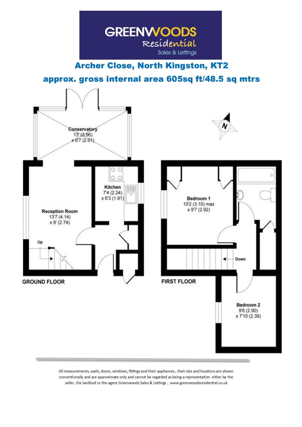 2d Floorplan Archer Close Greenwoods