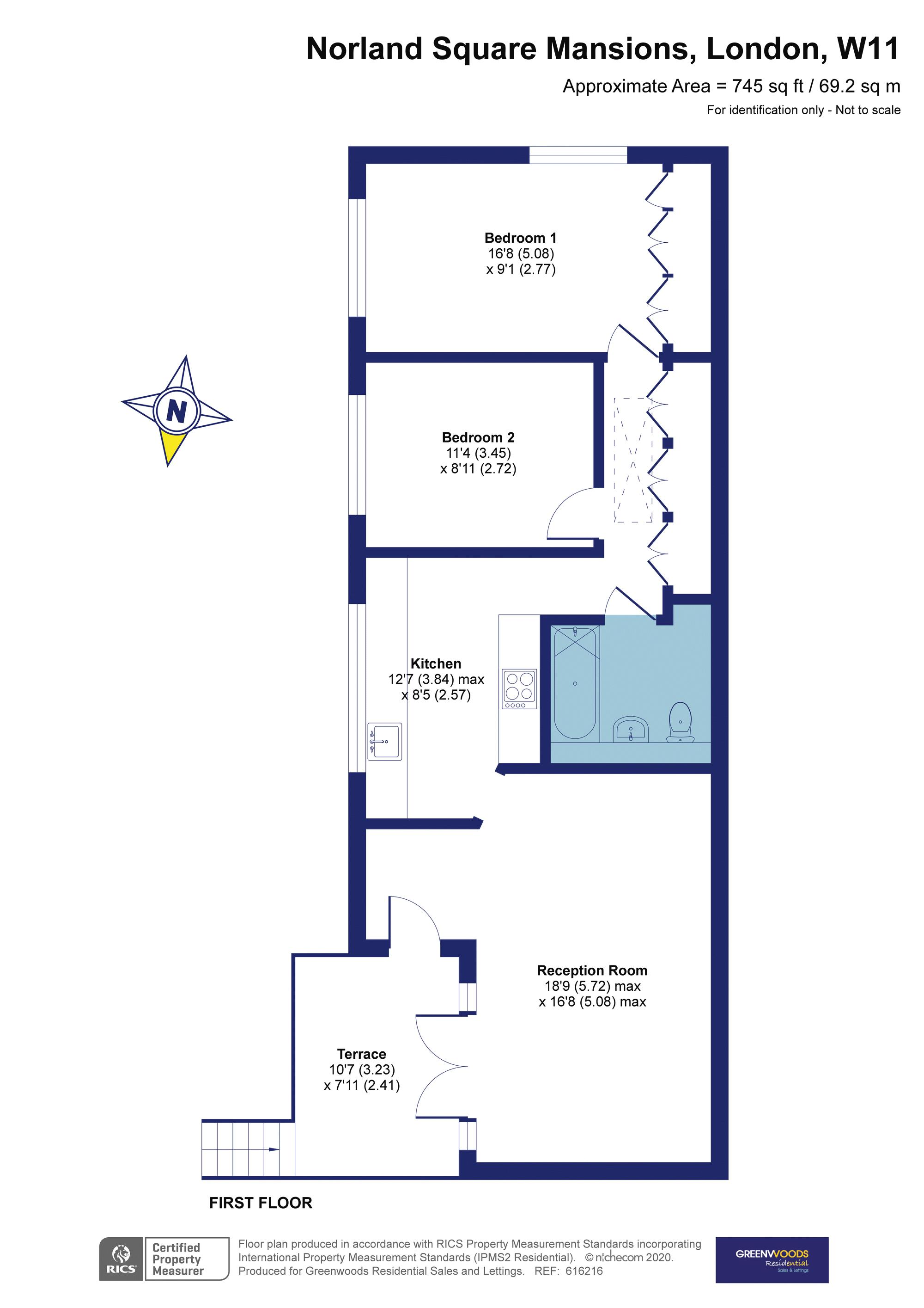 Norland Mansions 2D Rear Flat