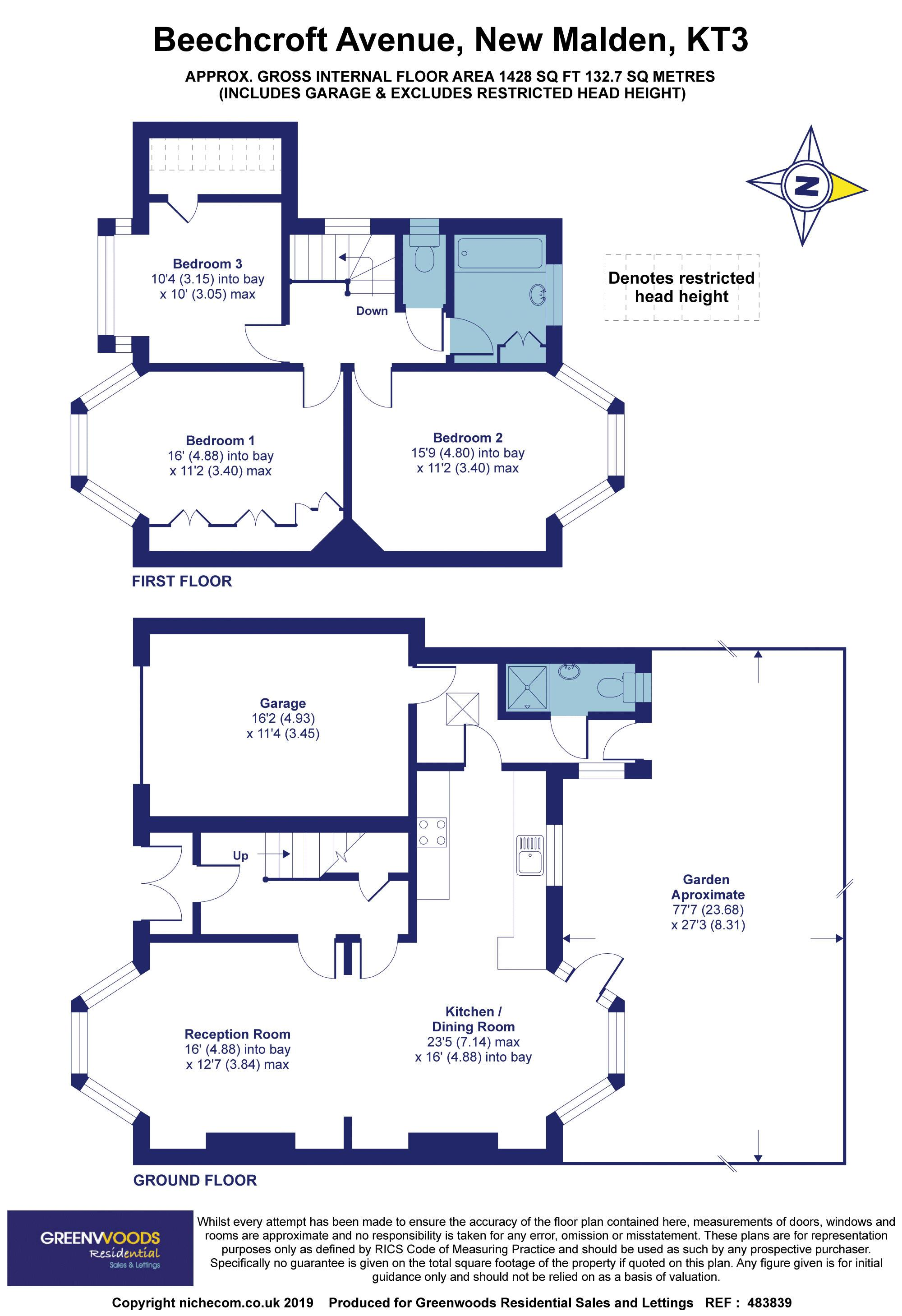 2D Floorplan Beechcroft Ave
