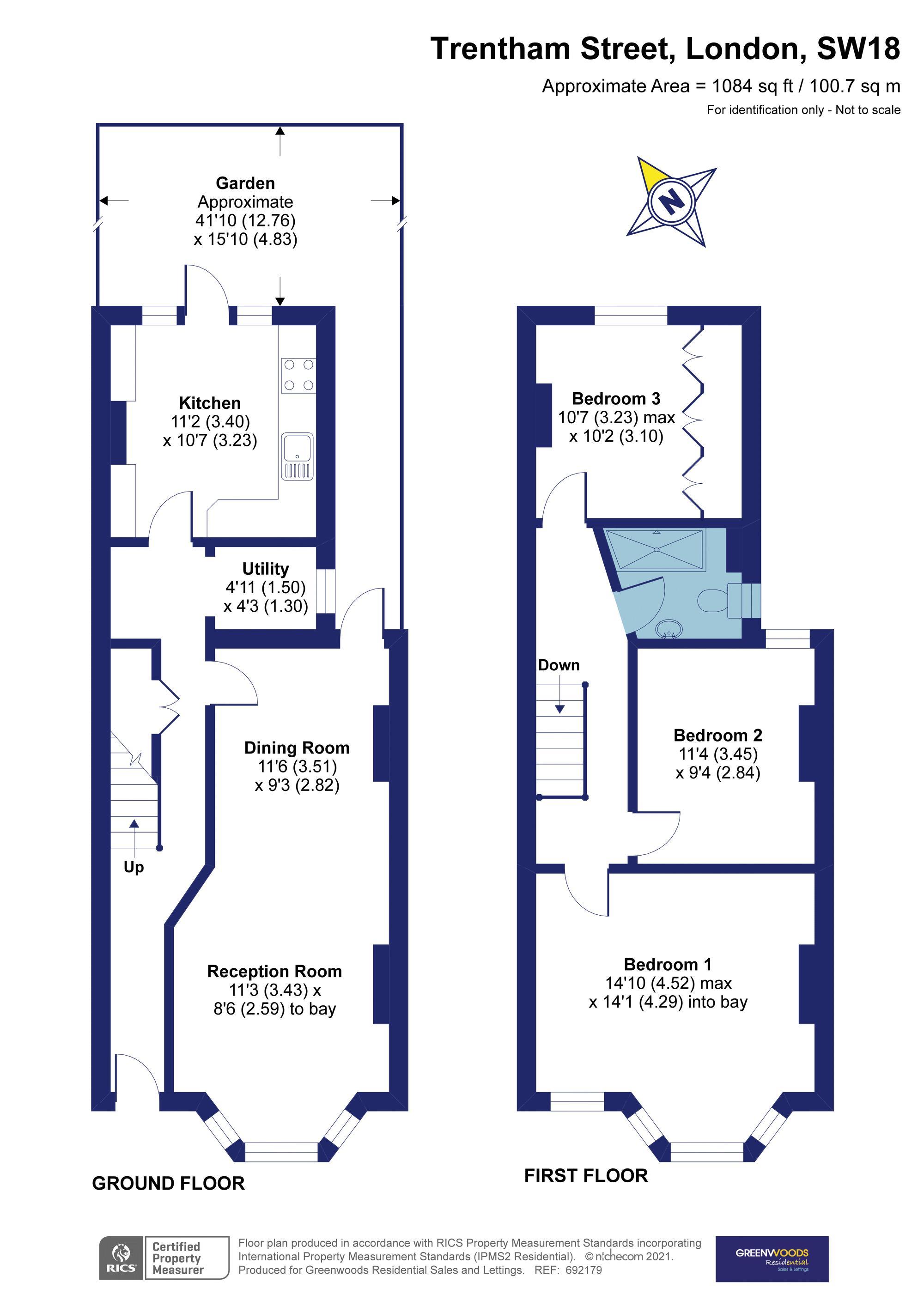 Trentham Street 2D Floorplan