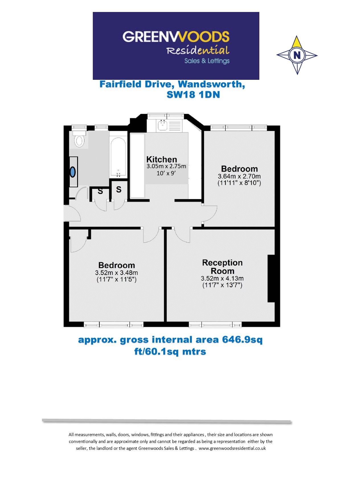 2D Floorplan Fairfield Drive