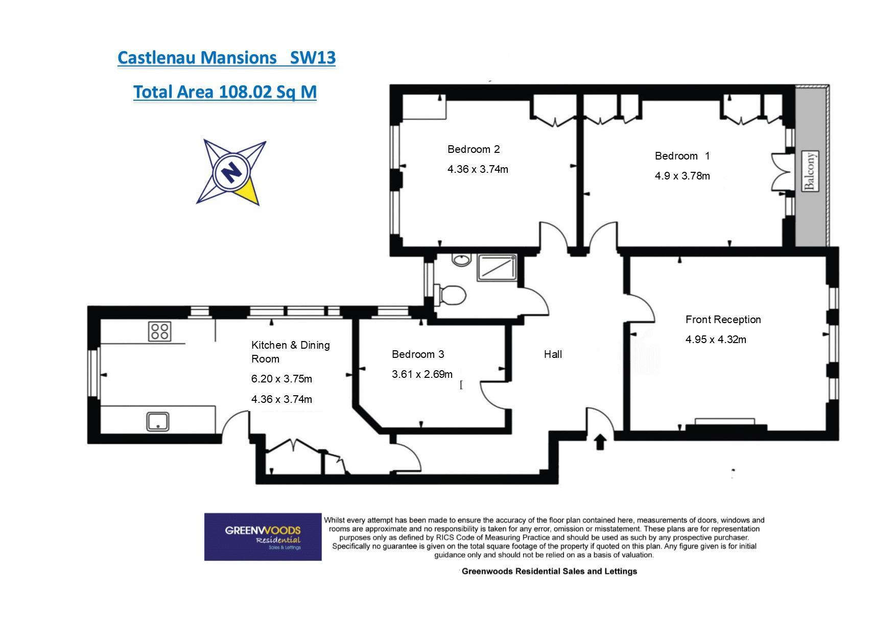Castlenau Floor Plan 3rd Floor
