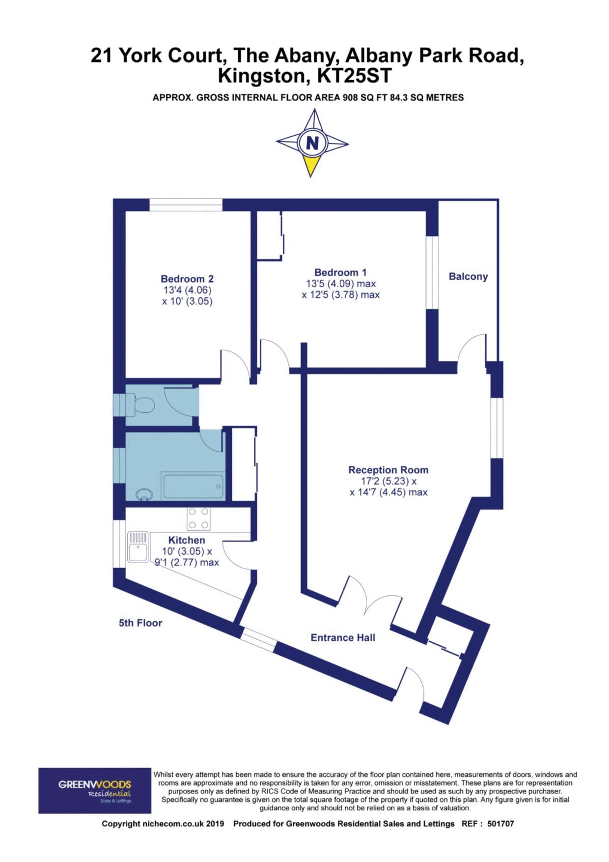 2D Floor plan York Court