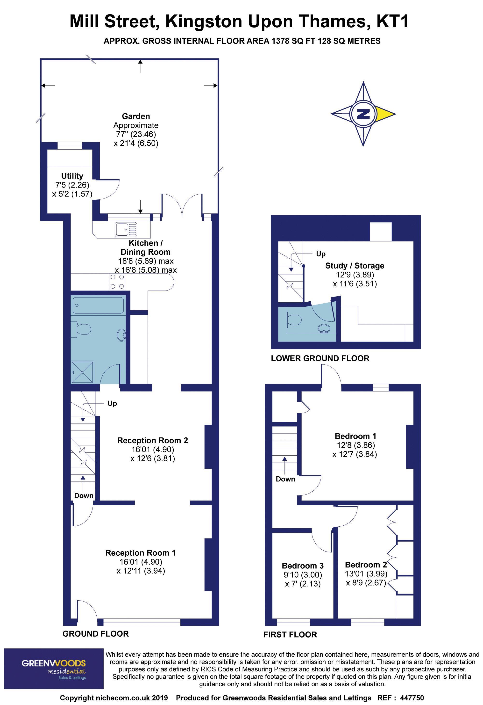 2 D Floorplan Mill Street
