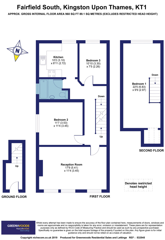 2D Floorplan Fairfield South