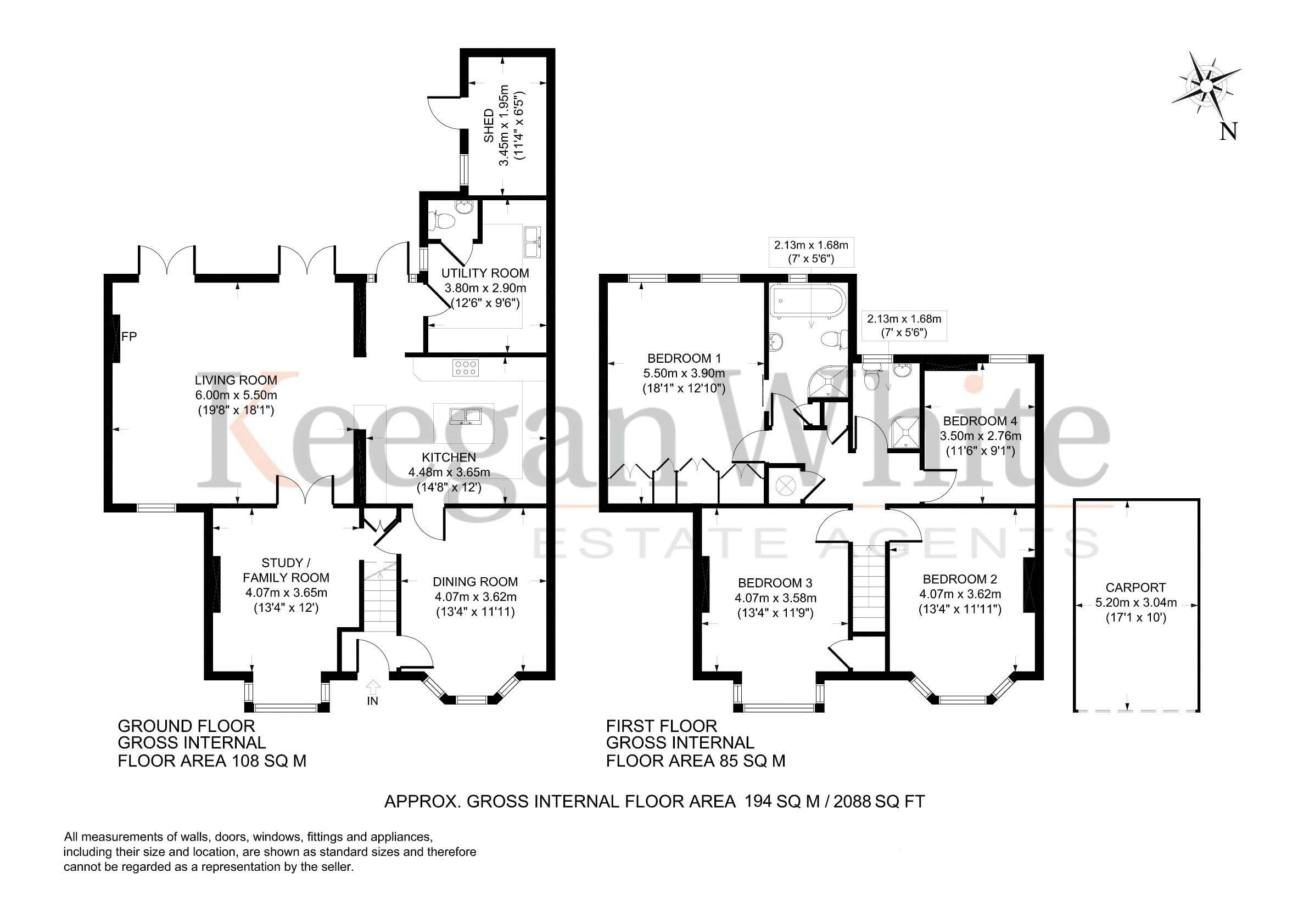 Keegan White - Floorplan - 141 Heath End Road