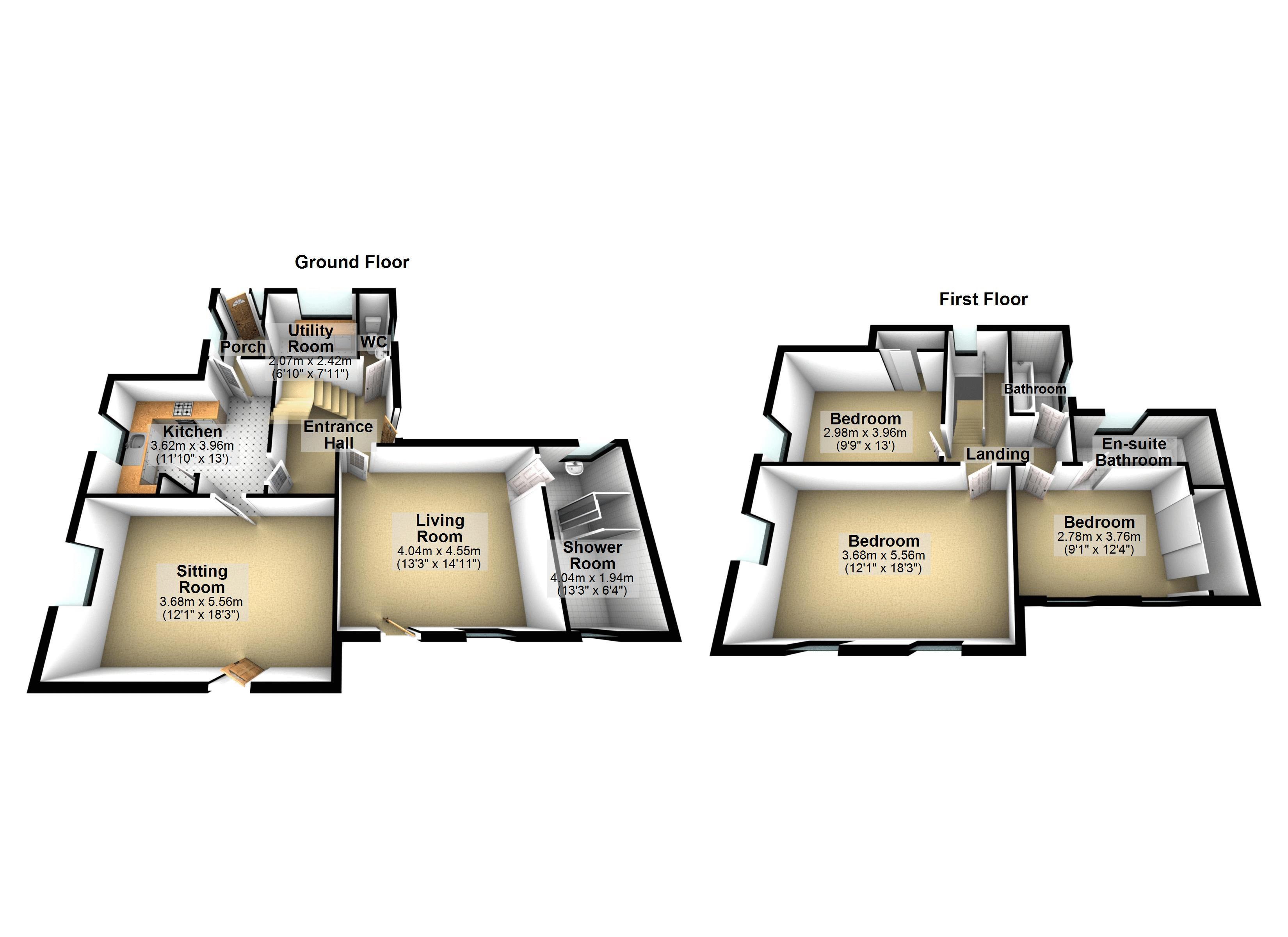 Main House - 3D Floor Plan
