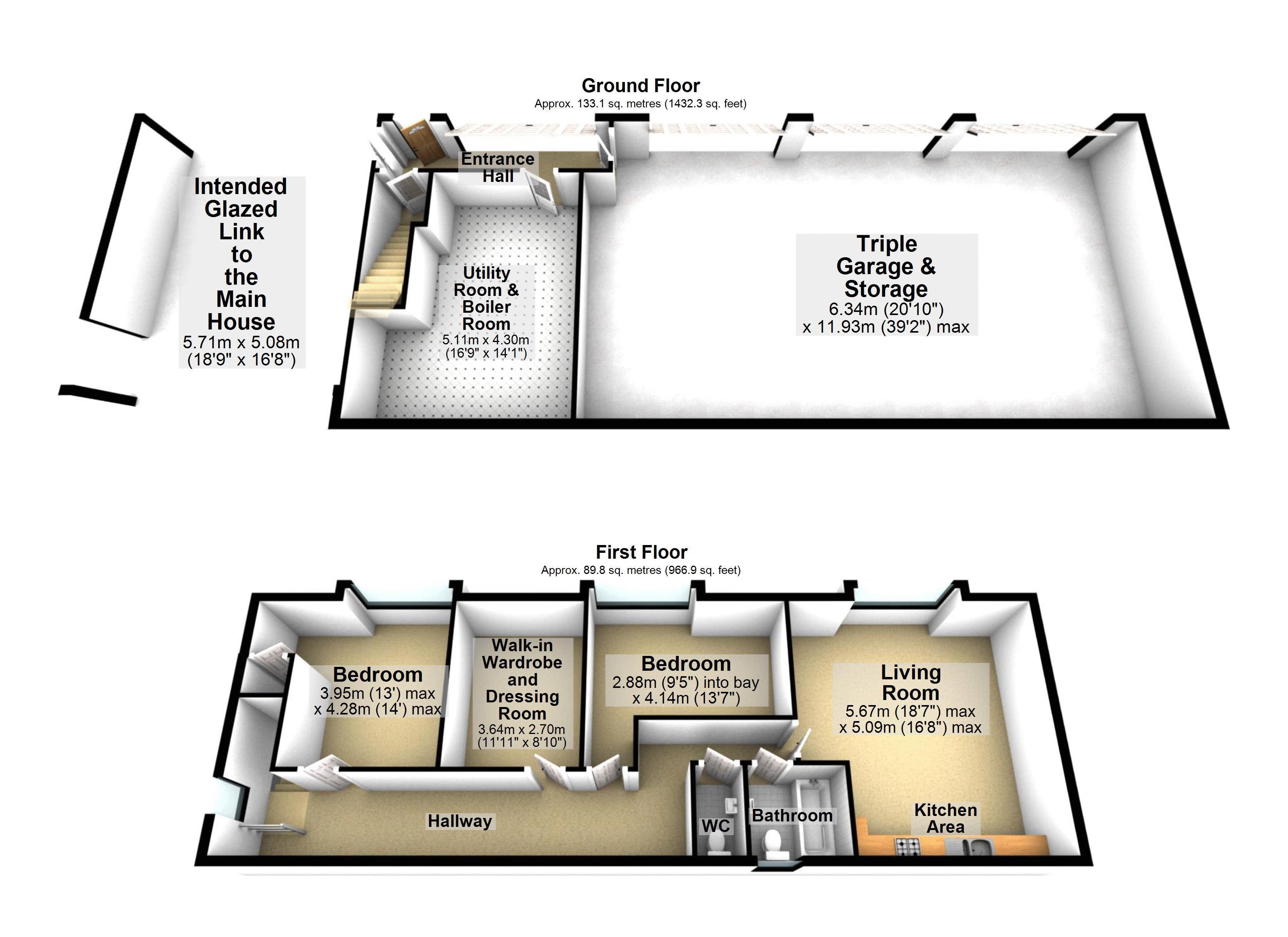 3D Floor Plan Annexe