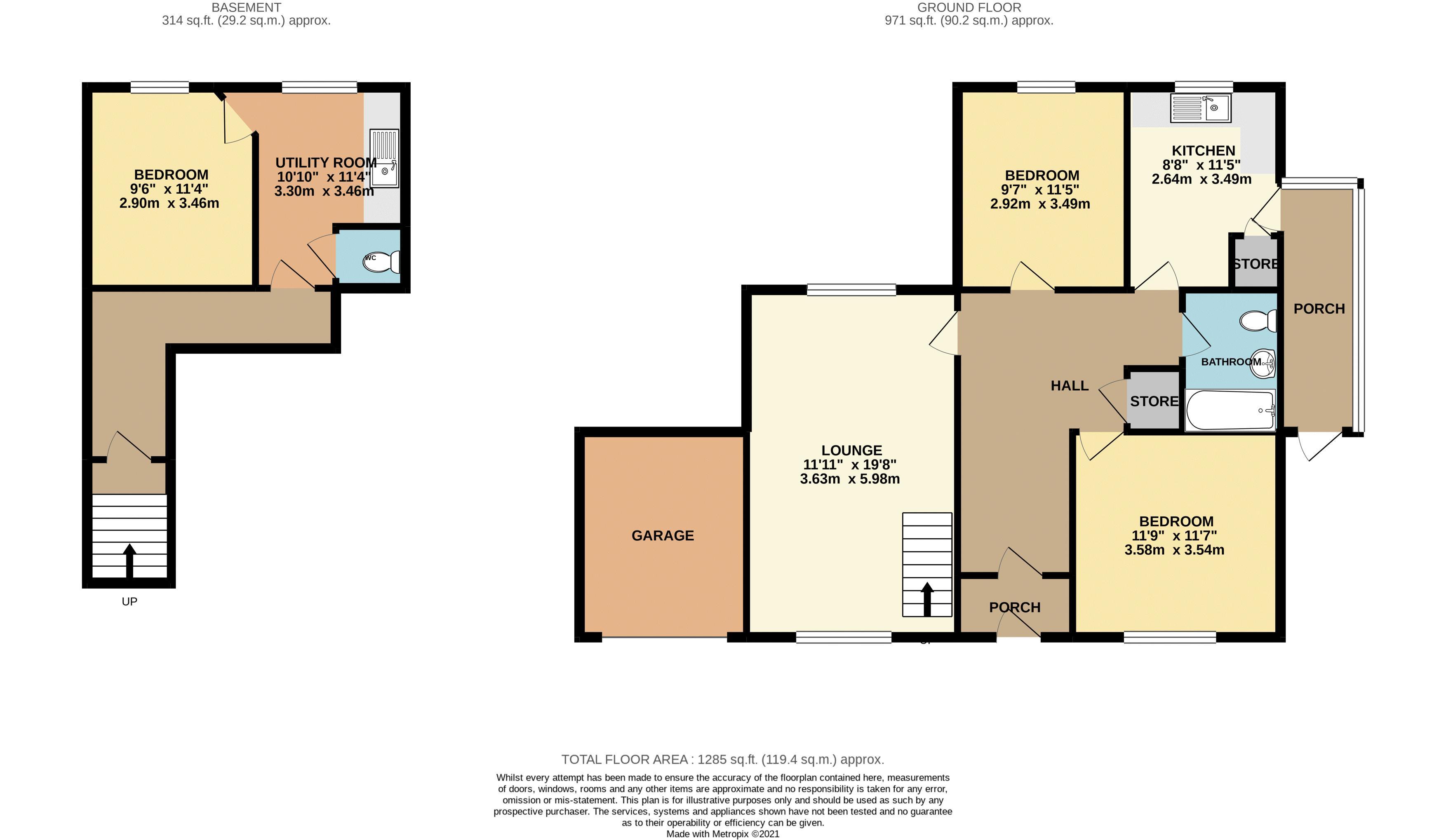 2D Floorplan (colour)