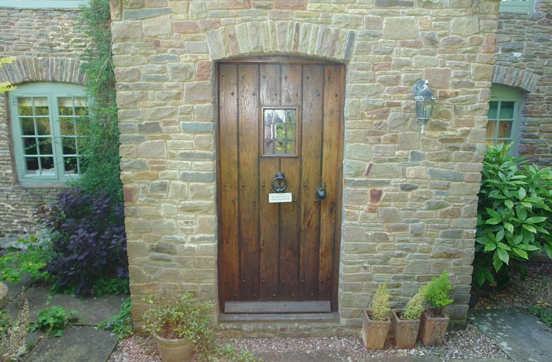Solid oak front door