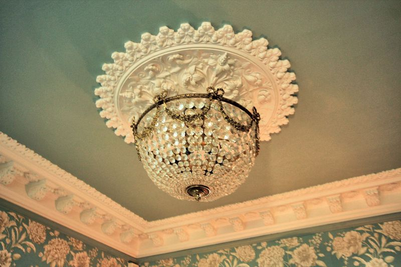 Ornate Ceiling Rose and Cornice