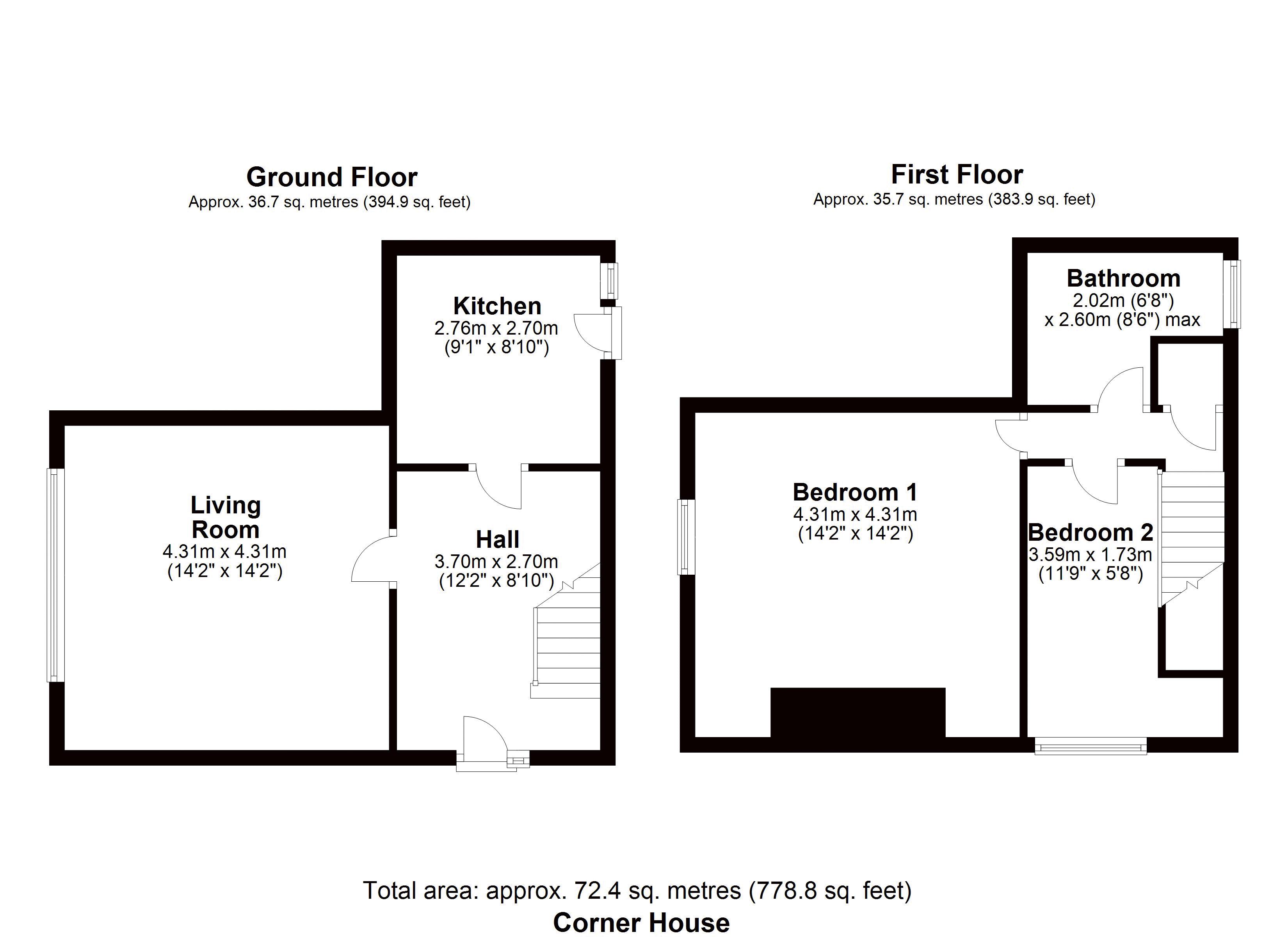 Corner House Floor Plan
