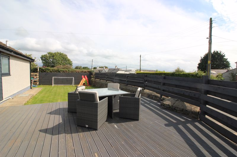 Decking garden and view