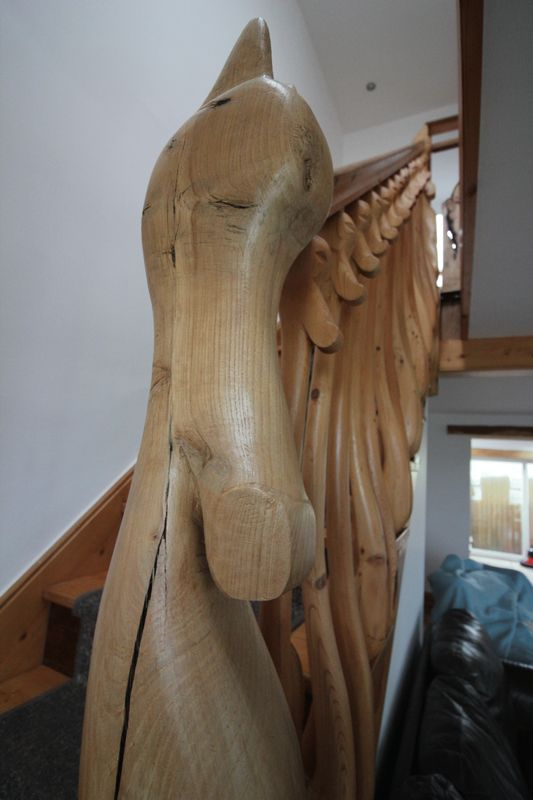 Hand Carved Banister