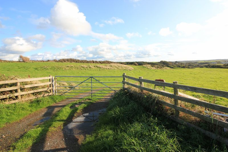 access gate to camping fields