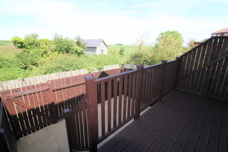 rear decking and courtyard