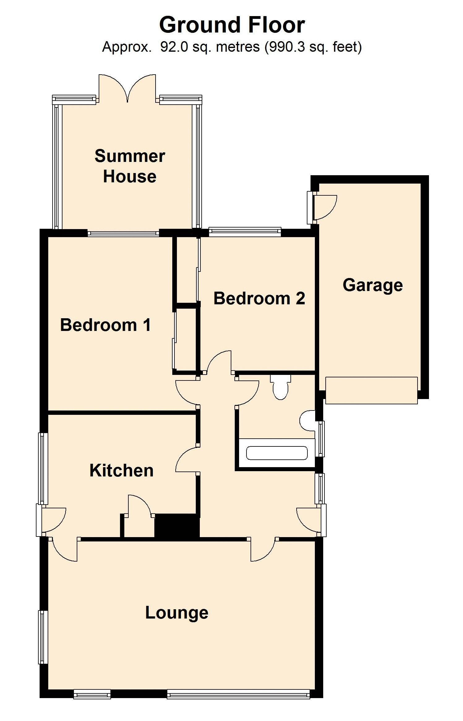 floor plan 53 Gwelfor