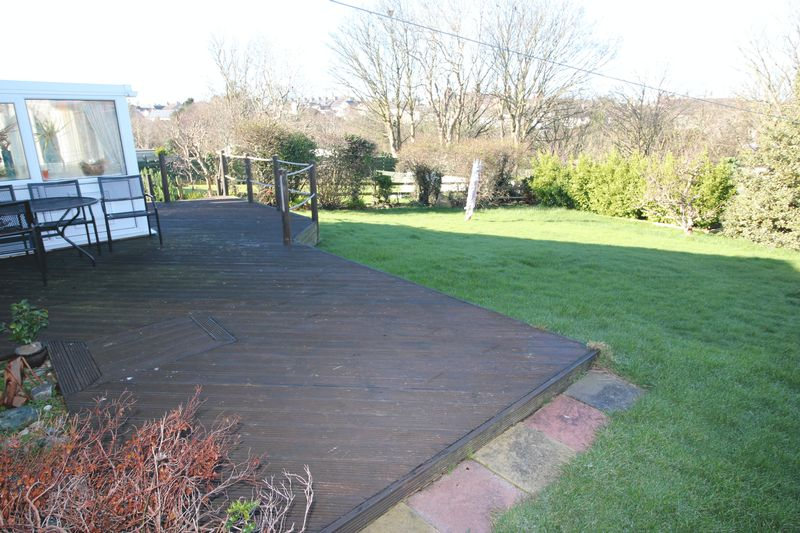 decking and garden to rear