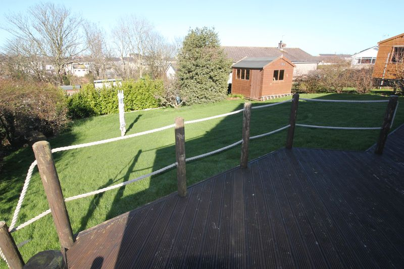 decking and rear garden