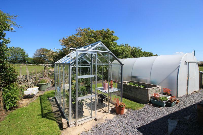 productive garden area