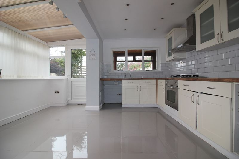 kitchen and side conservatory