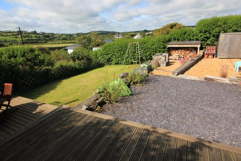 Separate garden and patio/decking
