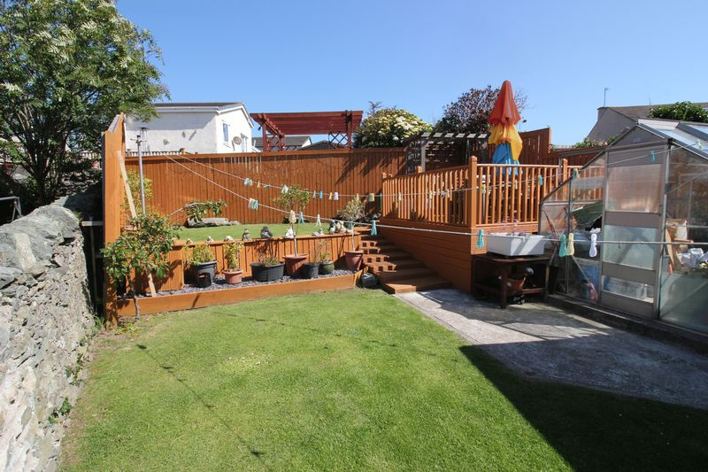 rear garden and decking