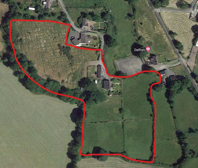 Aerial view showing approx boundaries