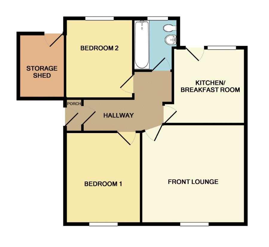 4a Maes Mona Floor Plan