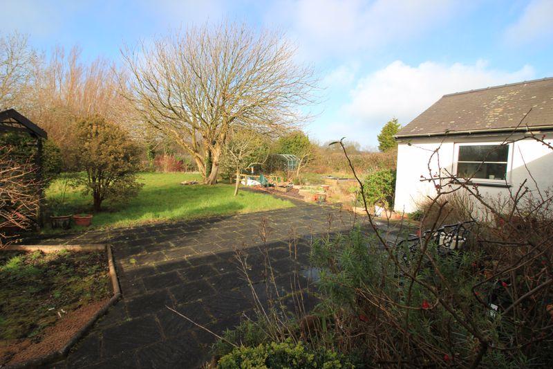 rear gardens and patio