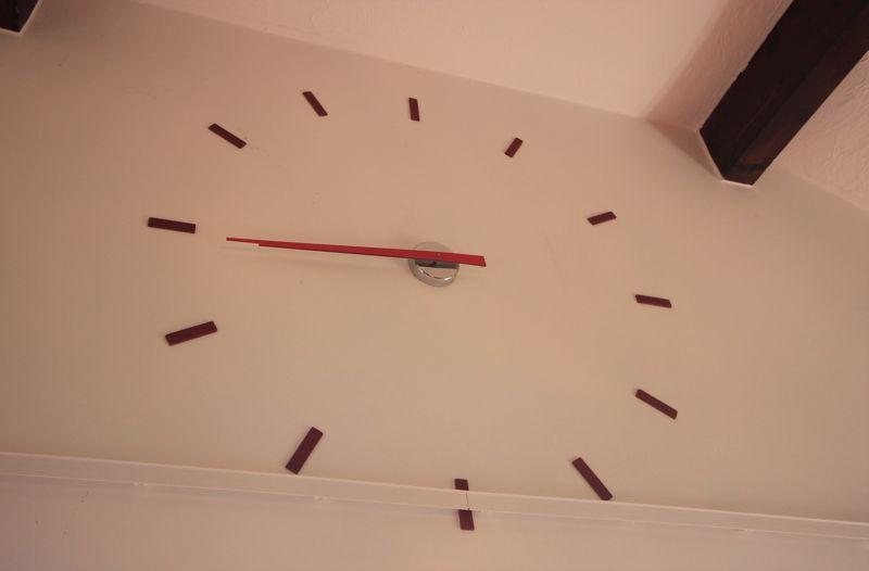 Clock in lounge