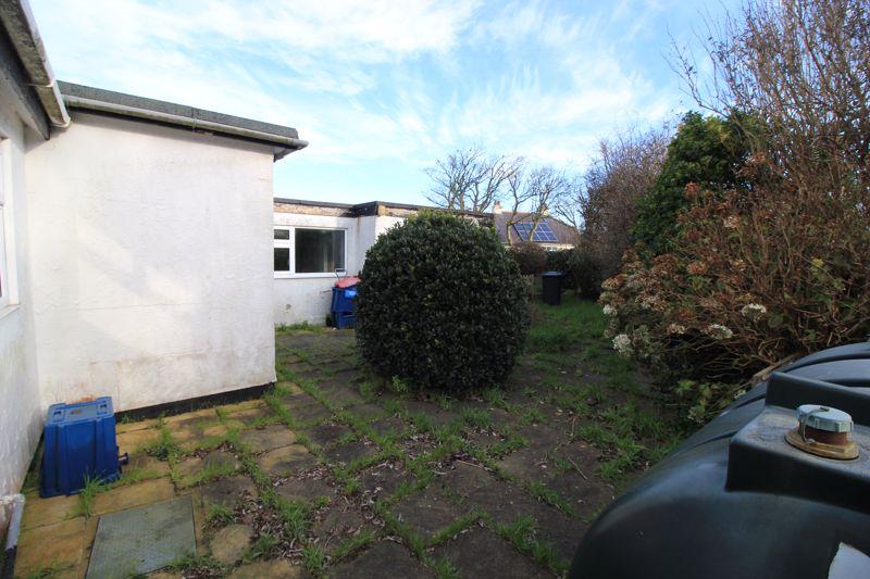 Rear garden and patio area