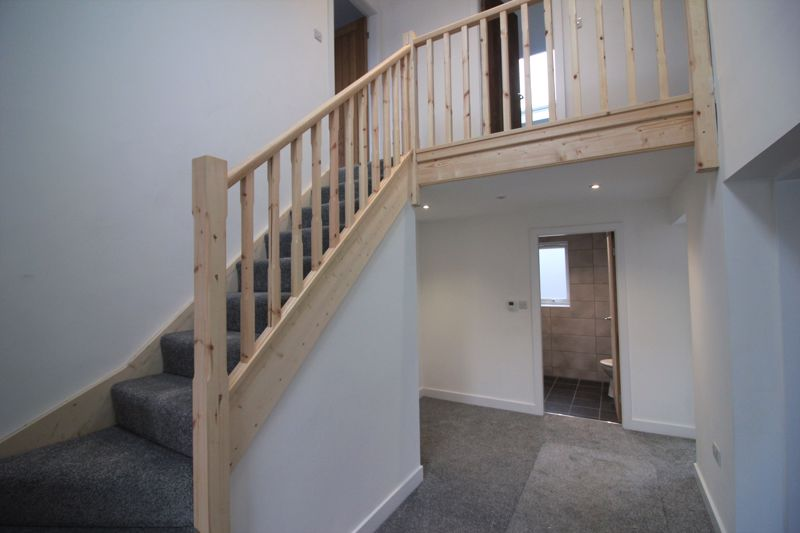 Hall to galleried landing