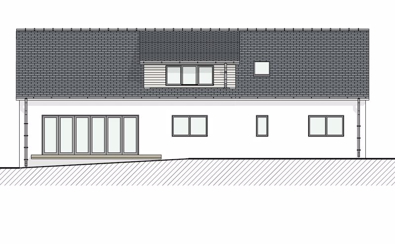 Rear elevation proposed - not actual
